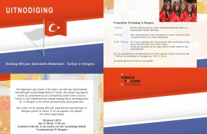uitnodiging - 400 jaar diplomatie Nederland - Turkije in Hengelo